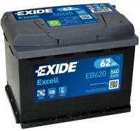 АКБ 62Ah 540A EXIDE Excell EB620 полярность обратная