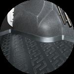 Коврик багажника пластик УАЗ 3163 Патриот 2014- / L.Locker / 0182020300