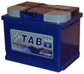 АКБ  60Ah 600A / TAB POLAR / BLUE полярность прямая 121160