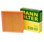 Фильтр воздушный LADA 2110-2112 2113-2114 2123 Kalina Granta Priora Niva (двигатель инжектор) / MANN / C22117