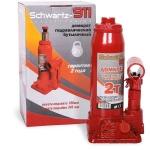 Домкрат гидравлический  2 тонны (180-345 мм) SCHWARTZ-911 в коробке / AZARD / DOMK0004