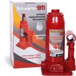 Домкрат гидравлический  4 тонны (195-380 мм) SCHWARTZ-911 в коробке / AZARD / DOMK0005