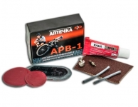 Аптечка для ремонта шин велосипедов / АРВ-1 / БХЗ / 80X60X24
