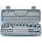 Набор головок с трещеткой и удлинителем и карданчиком ( 15 предметов) 10-27мм / НИЗ / 57041025