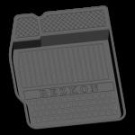 Коврики в салон резиновые Lifan Х50 2015- / REZKON / 1022020100