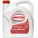 Антифриз SINTEC  LUX-OEM G-12 / Красный / 614500 5KG