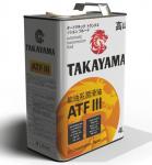 Масло TAKAYAMA ATF III / 605051 4L